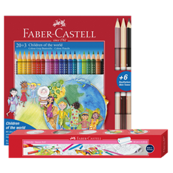 "Bild von FABER CASTELL Dreikant-Buntstifte Colour GRIP Charity-Set ""Children of the world"""