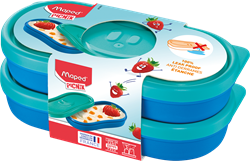 Bild von Maped PICNIK Snackbox KIDS CONCEPT blau, 2er Set