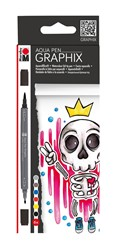 "Bild von MARABU Aqua Pen GRAPHIX 6er-Sortierung ""King of Bubblegum"""