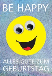 "Bild von Smiley Grußkarte ""Be Happy"""