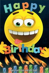 "Bild von Smiley Grußkarte ""Happy Birthday ..."""